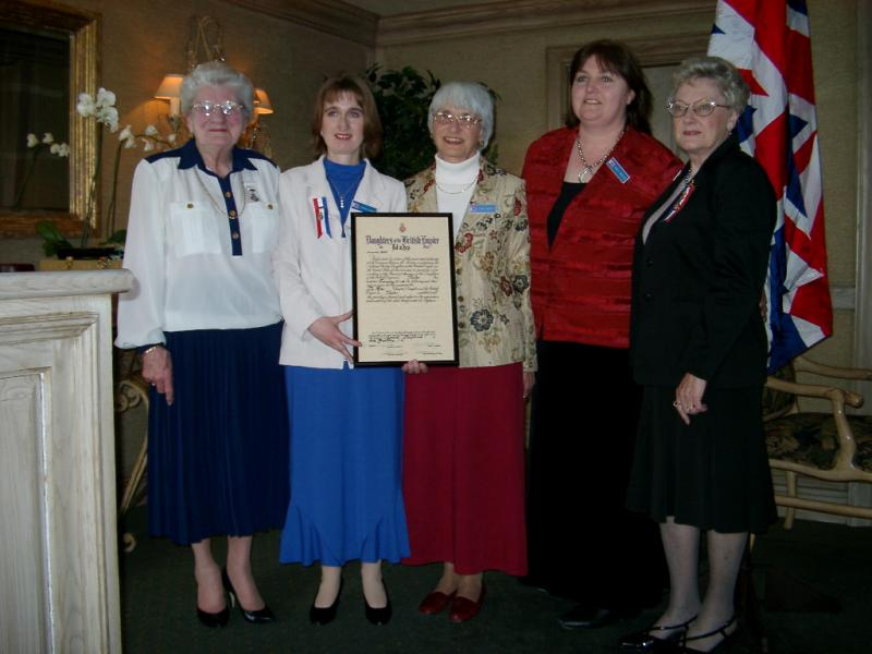 The Tea Rose Chapter receiving its charter